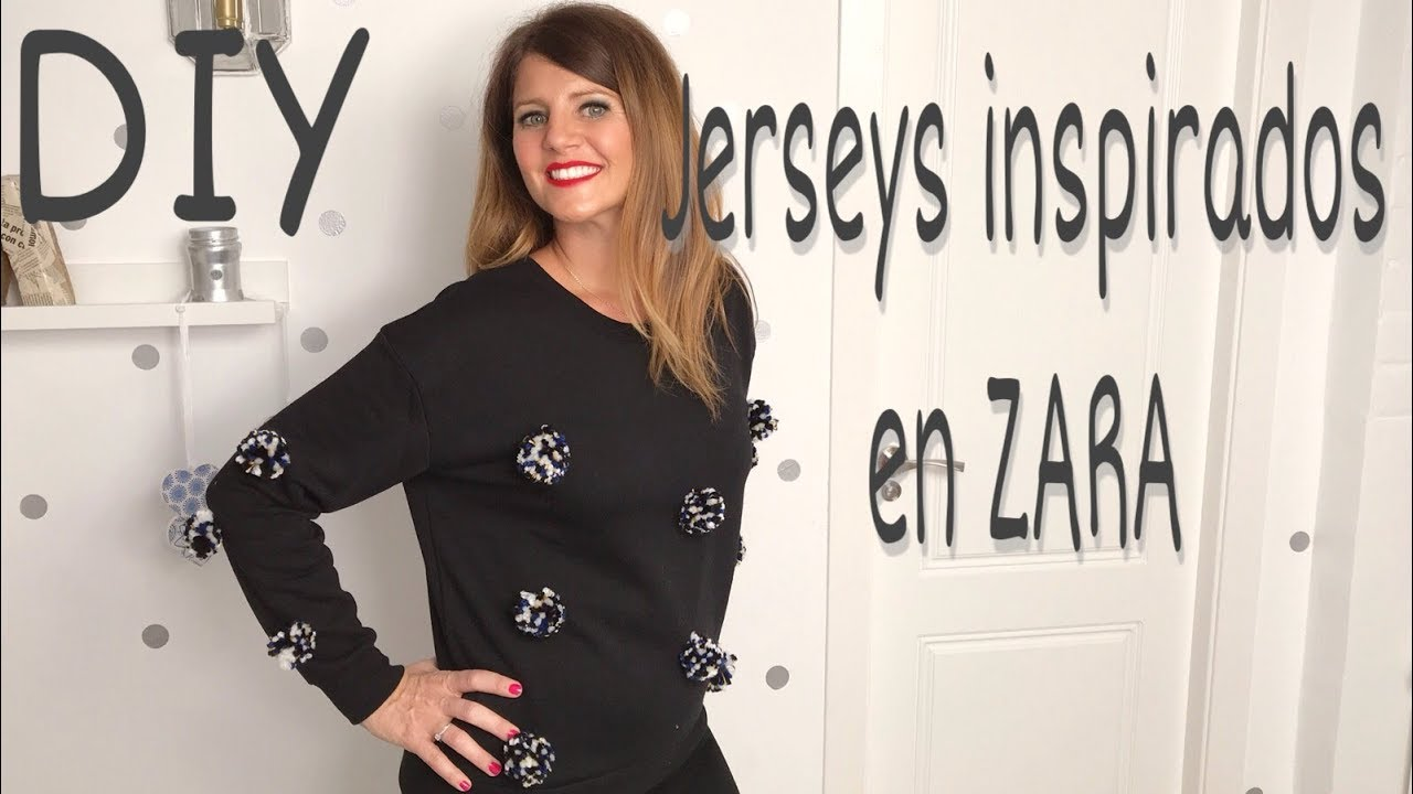 Jerseys de ZARA transformando jerseys viejos. diy