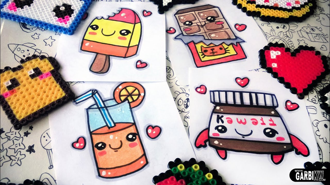 How to draw nice Food - easy Drawings and kawaii - Nutella ...
