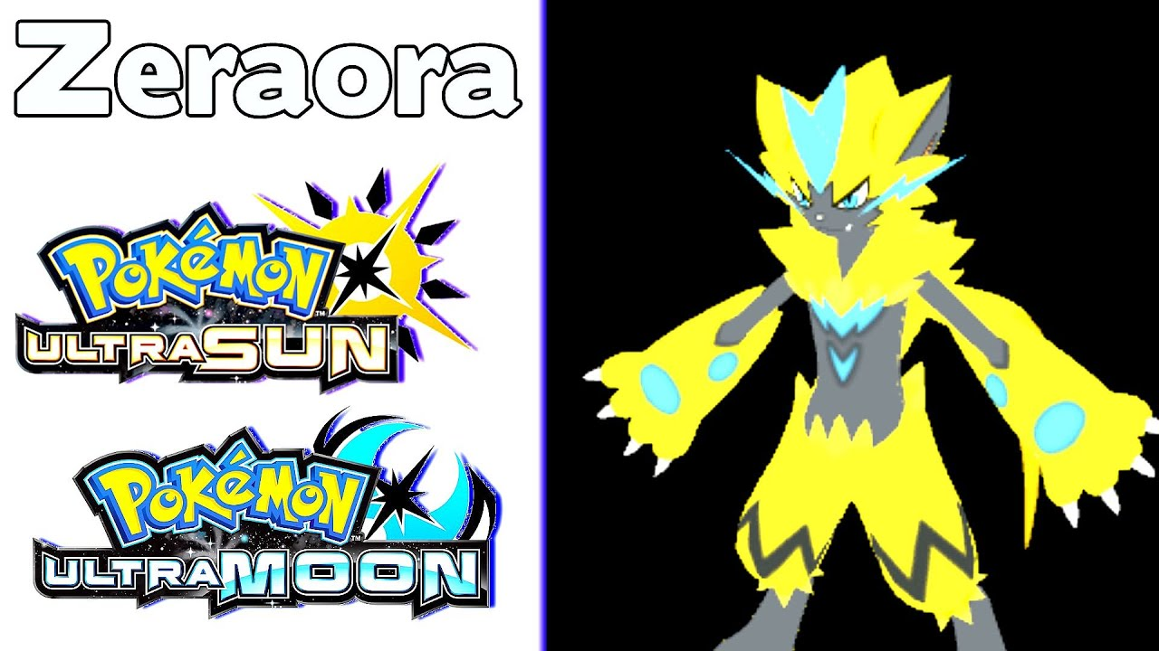 New Legendary Pokemon Zeraora Leak Pokemon Ultra Sun And Ultra Moon Datamine Youtube