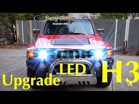 How To Replace | Upgrade HUMMER Headlights To LED Lights | H3 HUMMER LED Upgrade