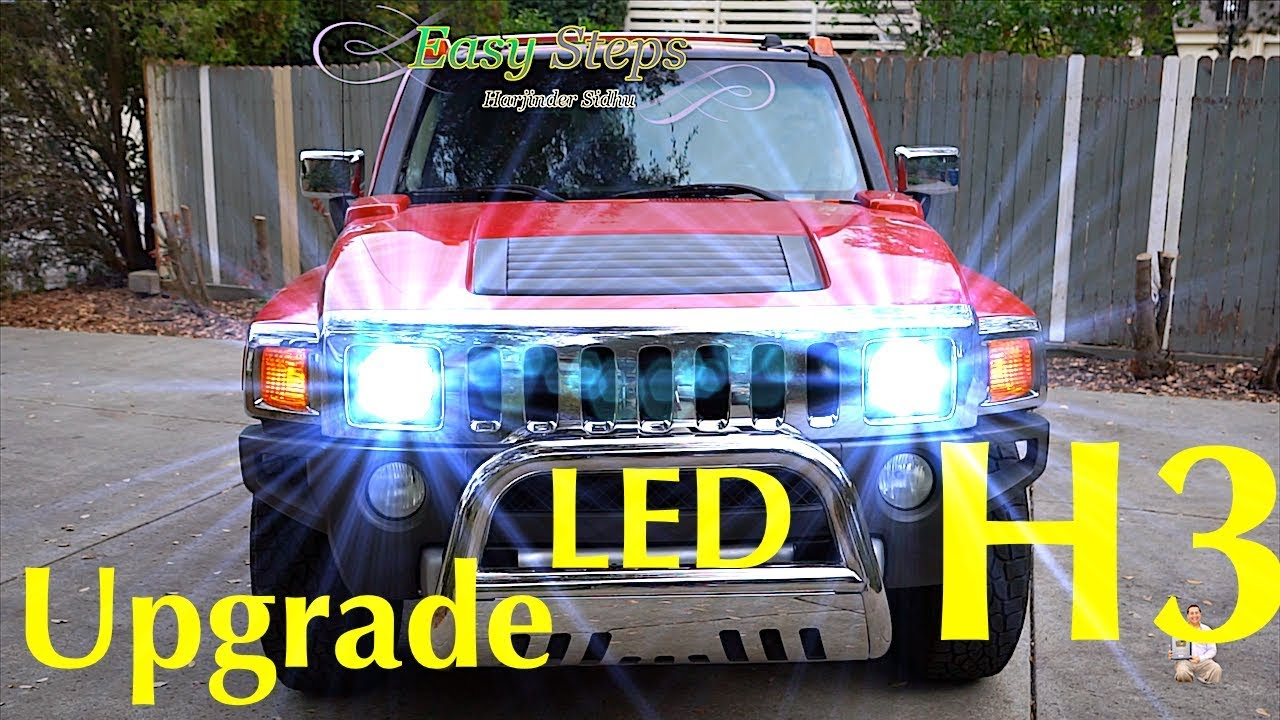 How To Replace   Upgrade HUMMER Headlights To LED Lights   H3 HUMMER LED  Upgrade