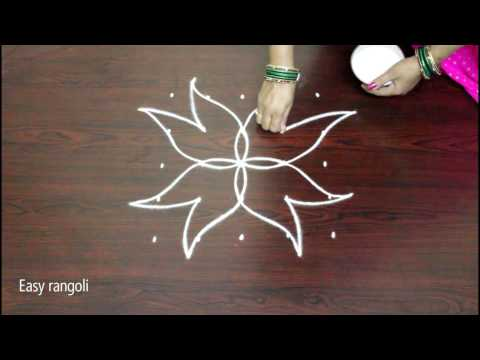 kolam designs with 5x5 straight dots- rangoli art designs- muggulu designs