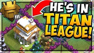 WORLD RECORD - Town Hall 6 in TITAN LEAGUE in Clash of Clans! HOW?!