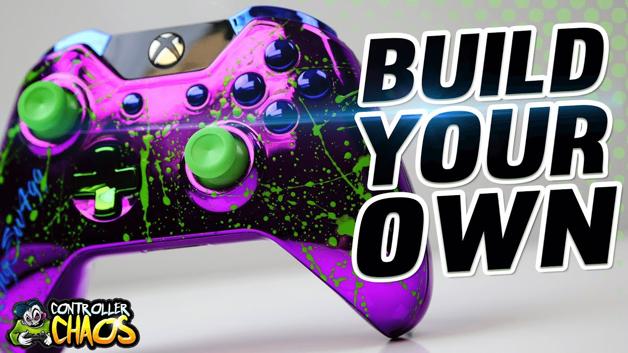 Green Splatter Build Your Own Custom Xbox One Controllers Controller Chaos YouTube