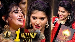 மாமியாரை மிரட்டிய பார்வதி | Sembaruthi Serial Shabana Live at Galatta Nakshatra Awards 2019