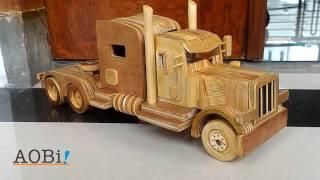 Wooden toy truck - Peterbilt