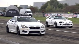 BMW M6 F13 HPT Stage 2+ vs Toyota Supra vs Shelby GT500