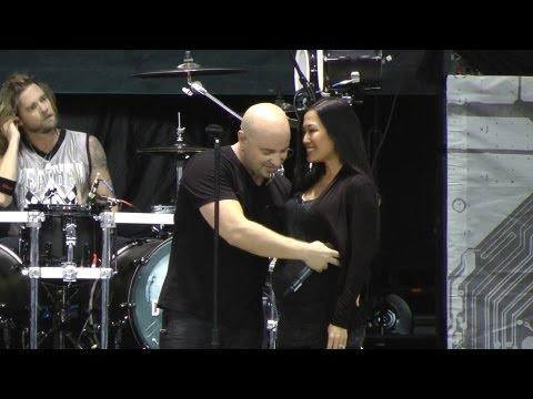 David Draiman,Wife and Unborn on stage-Toronto-Aug 11 2013