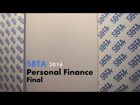 SBTA 2016 Personal Finance Final