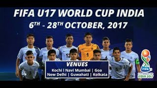India Under 17 Football Team for the World Cup 2017. State wise sel...