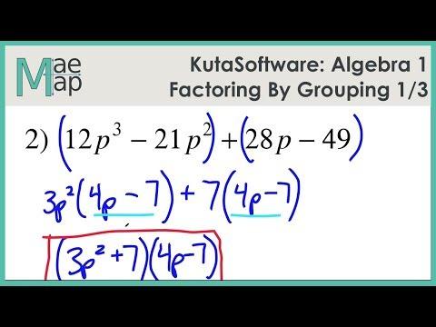 Kutasoftware Algebra 1 Factoring By Grouping Part 1 Youtube
