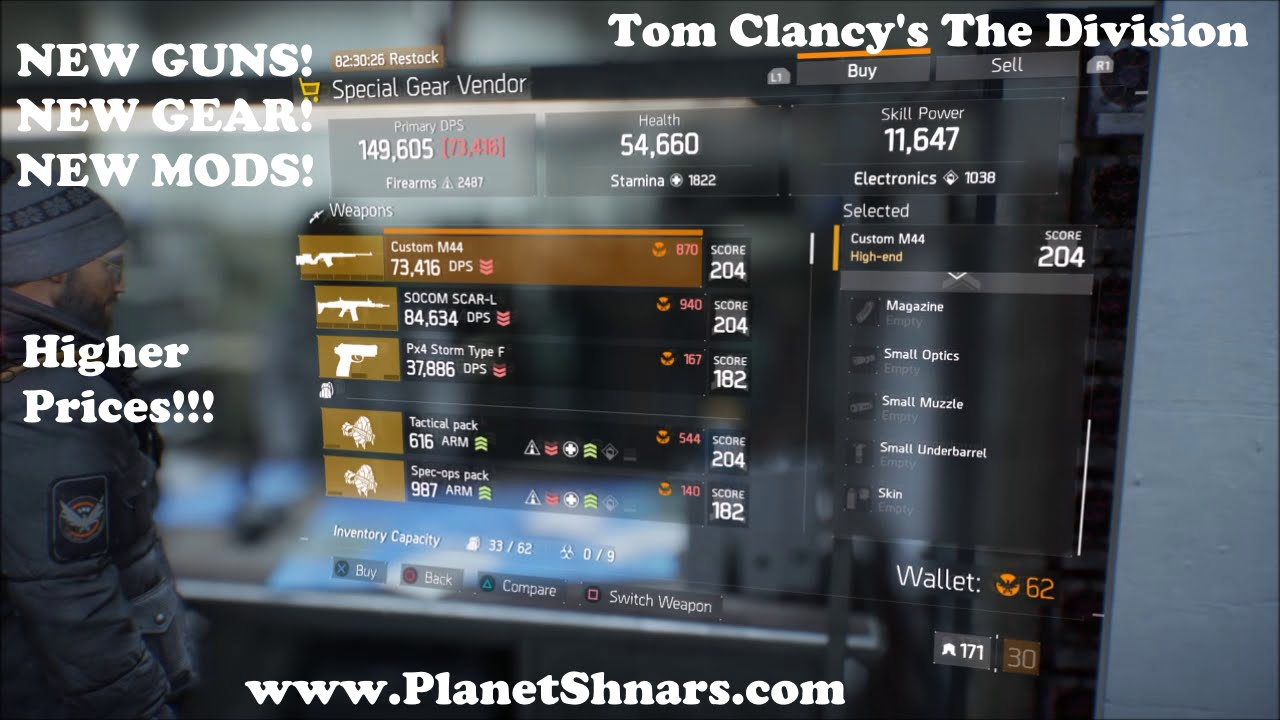 Special Gear Vendor - Base of Operations - All NEW Inventory - Tom Clancy's  The Division