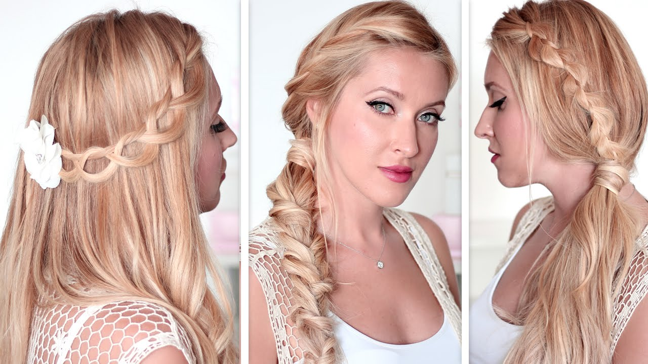 Tuto coiffure express cheveux mi long