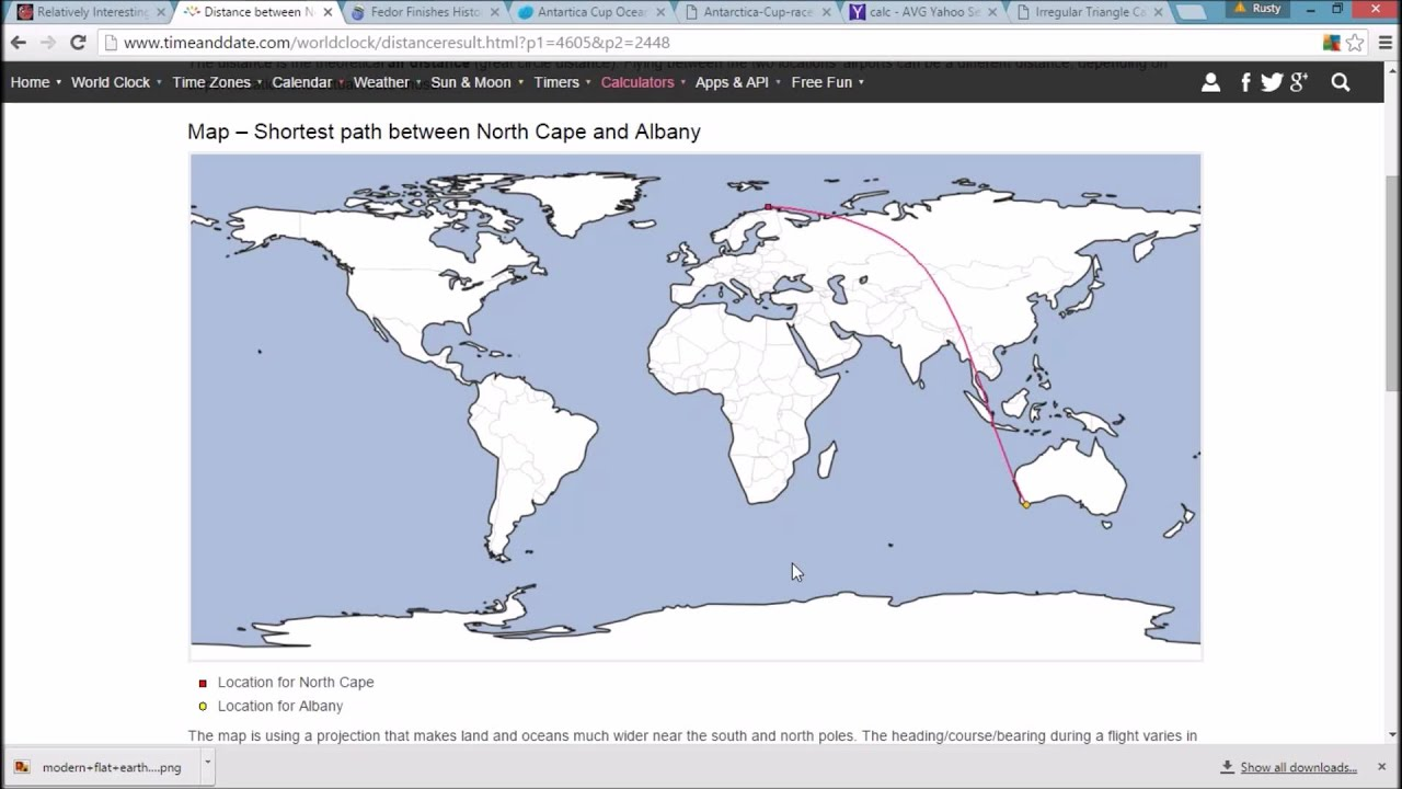 Flat earth damned by its own map youtube flat earth damned by its own map gumiabroncs Gallery