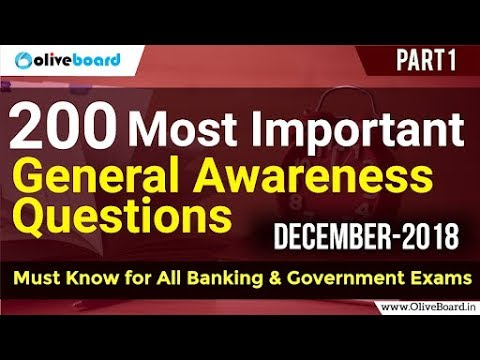 200 Important General Awareness Questions December Part-1 - YouTube