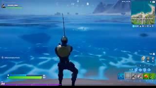 Fortnite - поймайте рыбу с помощью удочки ,гарпуна и гранатомёта