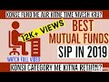 Best Mutual Funds for SIP in 2019 | Mutual funds for beginners in 1.5 Minutes | Hindi