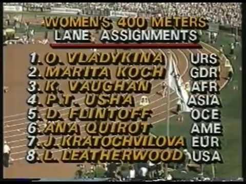 PT Usha World Championship 400m Final 1985