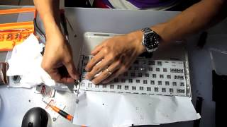 Replace liquid damaged keyboard of 2011 Apple Macbook Air