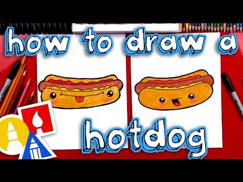 how-to-draw-a-funny-hotdog