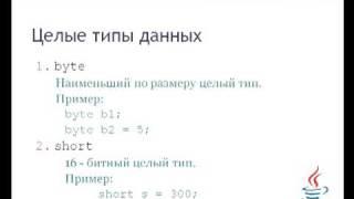 Урок 4.1. Типы данных Java