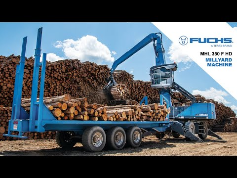 Terex Fuchs MHL350 F HD (Heavy Duty) - Sawmill / Millyard   Timber Material Handler / Log Loader