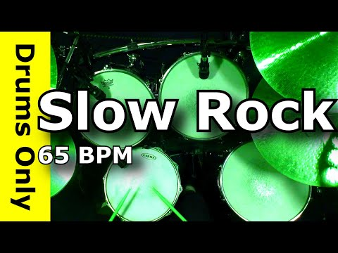 Drum Loops - Slow Rock Beat 65 BPM JimDooley.net