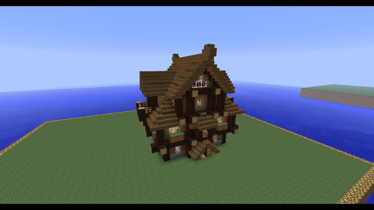 timelapse minecraft spruce log house design youtube