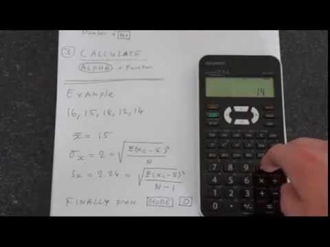How To Calculate Standard Deviation Using Sharp El-531X