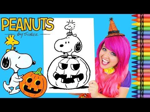 Coloring Halloween Snoopy Peanuts Coloring Book Page Crayola Crayons | KiMMi THE CLOWN