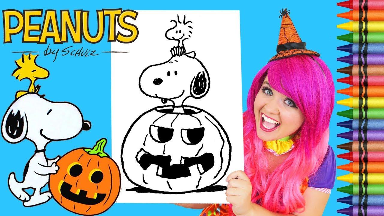 Coloring Halloween Snoopy Peanuts Coloring Book Page Crayola Crayons ...