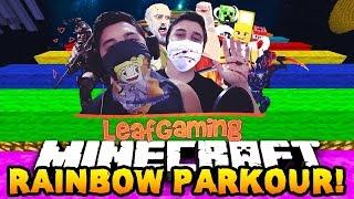 Minecraft: Extreme Rainbow Run Parkour! w/OyunOtuz5eş AAAAAA!
