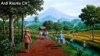 Degung Sunda Sabilulungan Lukisan Pemandangan Pedesaan