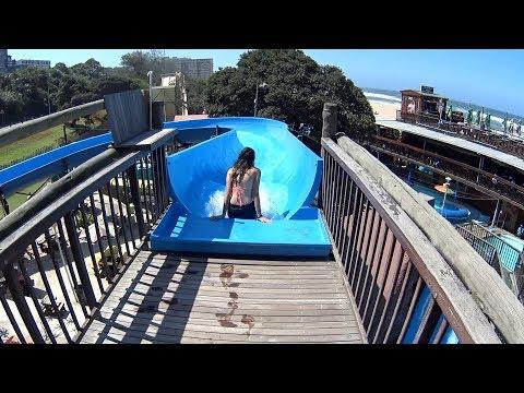 Giant Blue Water Slide at Splash Waterworld