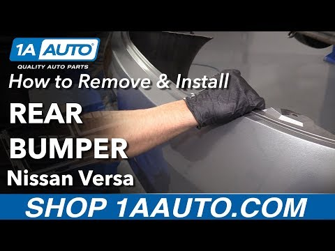 How to Remove Rear Bumper 12-19 Nissan Versa - YouTube