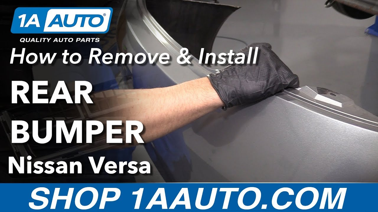How to Remove Rear Bumper 12-19 Nissan Versa