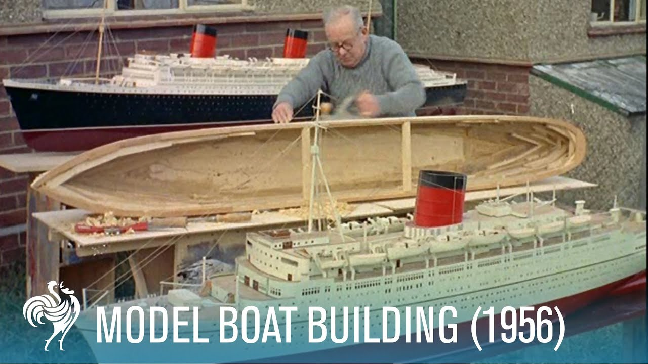 Model Boat Building: 'Edinburgh Castle' Union-Castle Line Ship (1956) | British Pathé - YouTube