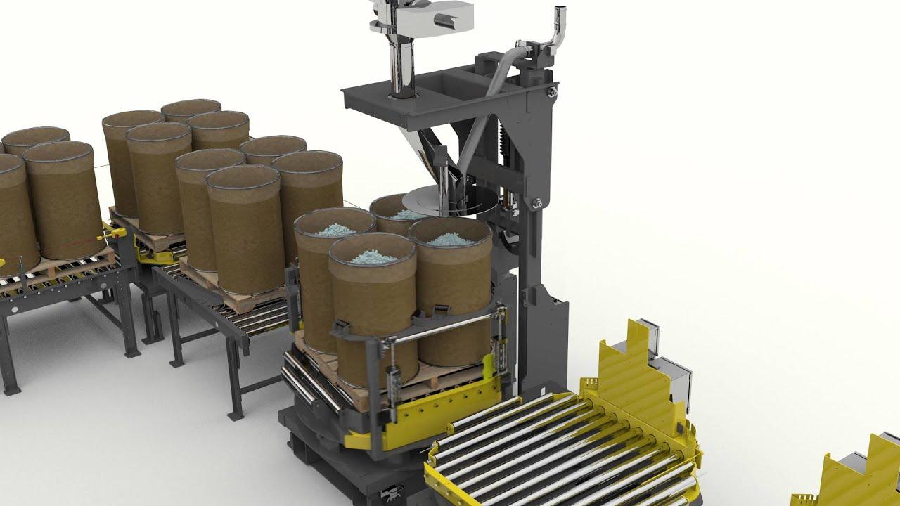 Bulk Container Filler System For Packaging Of Dry Bulk