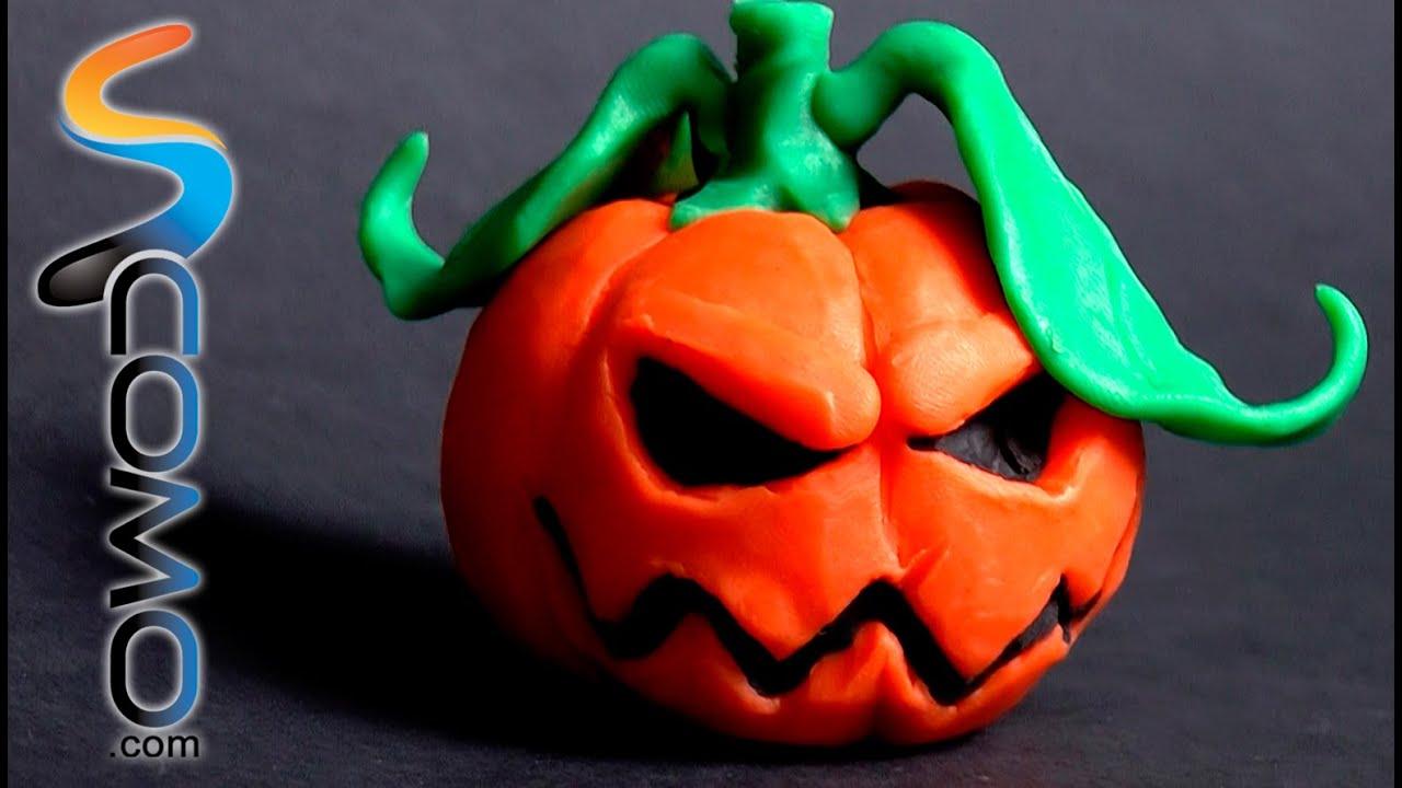 Calabaza de plastilina para decorar tu habitaci n youtube - Decorar calabazas para halloween infantiles ...