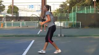 belinda bencic forehand backhand slow motion hd