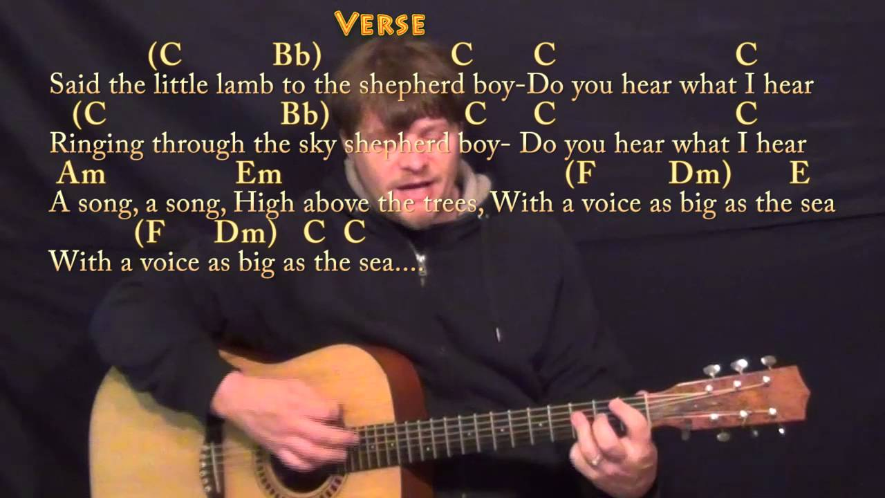 Do You Hear What I Hear Christmas Strum Guitar Cover Lesson In C