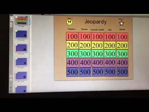 Jeopardy Smartboard Lesson  Youtube