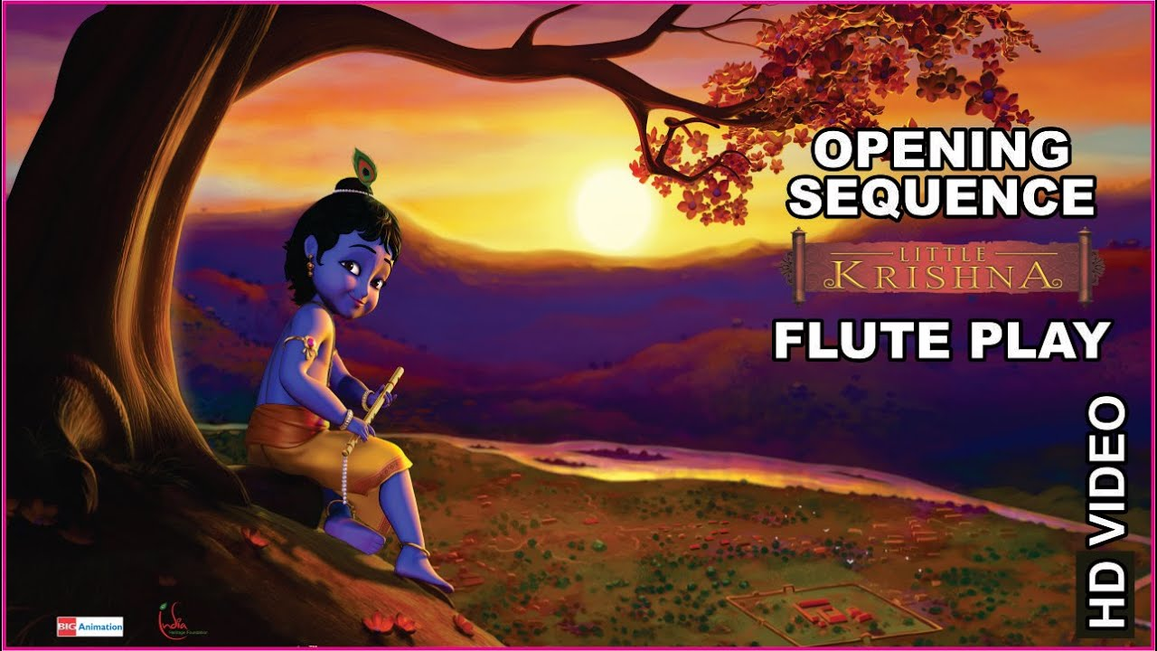 Little Krishna Opening Sequence Flute Big Animation