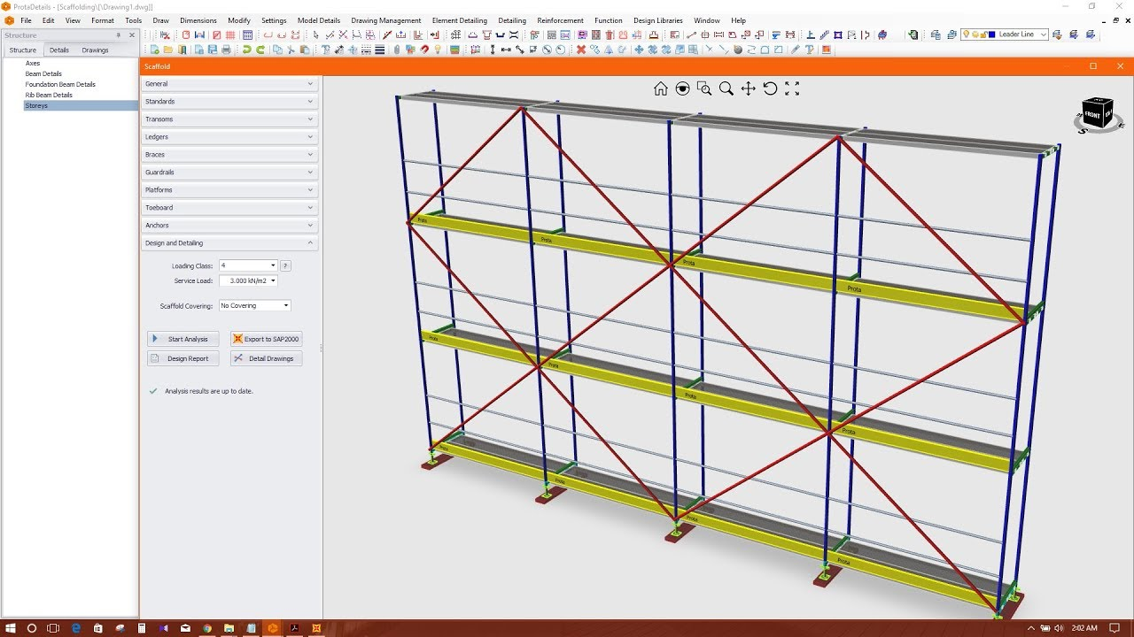 Scaffolding Design And Drawing In Prota Structure Suite