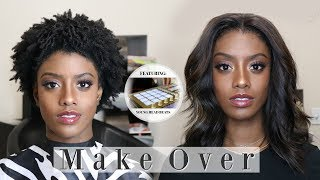 LACE CLOSURE on Widow's Peak on 4C hair using SL Raw Virgin Hair | Hair Makeover #9 | Feat. YHB