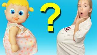 Маша и кукла и примеры правильного поведения детей, игры с куклой.