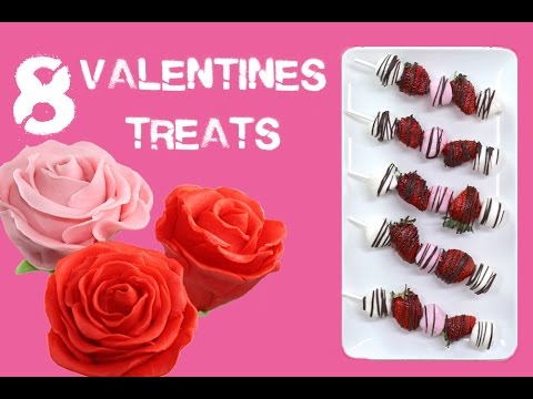 8 Valentines Desserts in 5 minutes | Recipes for LOVE by My Cupcake Addiction