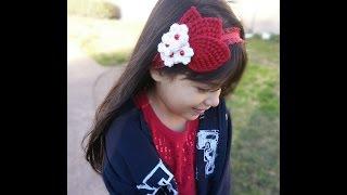 vincha o diadema a crochet para nias y mujeres how to crochet a headband english subtitles