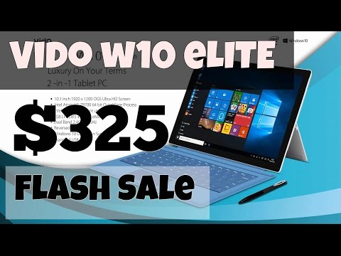 Vido W10 Elite Flash Sale $325 gearbest Promotion/Voucher/Coupon (Z8700 cherry trail tablet)
