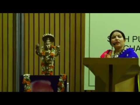 Ms. Nivedita Joshi, speaking at 'The Iyengar Way - A seminar on Yoga for the New Millennium'